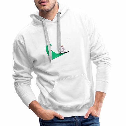 Licorne CRYM - Sweat-shirt à capuche Premium pour hommes