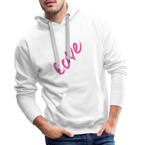 Love pink - Sweat-shirt à capuche Premium pour hommes