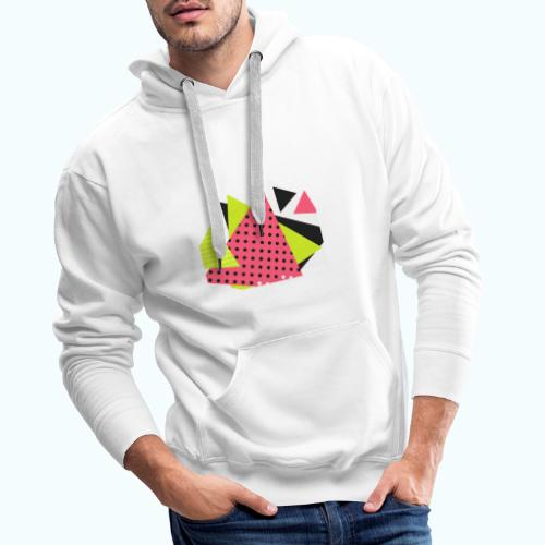 Neon geometry shapes - Men's Premium Hoodie