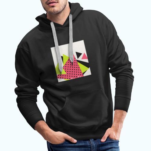 Neon geometry shapes - Men's Premium Hoodie
