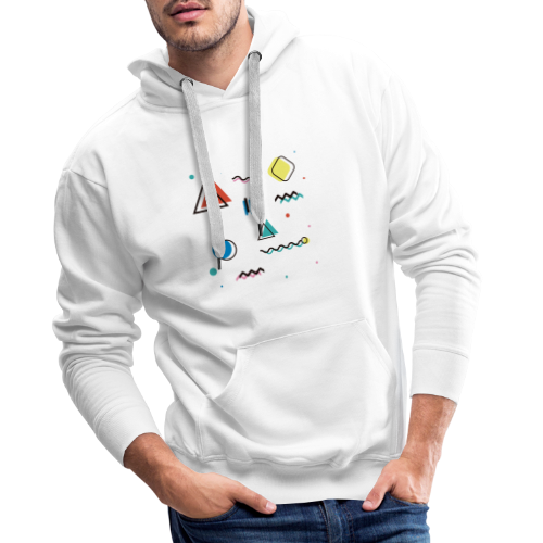 Abstract geometry - Men's Premium Hoodie