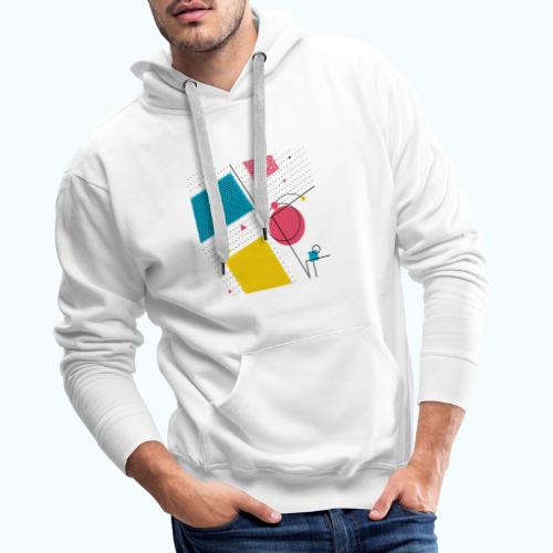 Colors shapes abstract - Men's Premium Hoodie