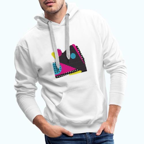 Abstract vintage shapes pink - Men's Premium Hoodie