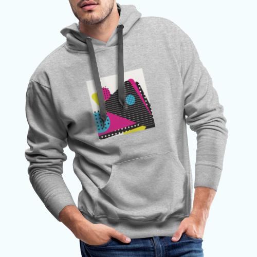 Abstract vintage shapes pink - Men's Premium Hoodie