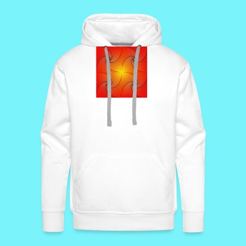 Pursuit curve in red and yellow - Men's Premium Hoodie