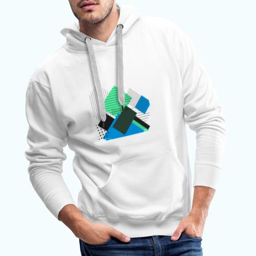Abstract rectangles pastel - Men's Premium Hoodie