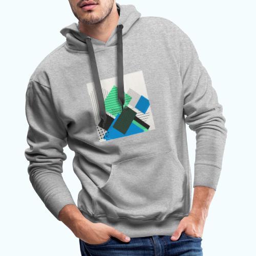 Abstract rectangles pastel - Men's Premium Hoodie