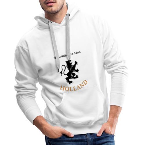 HOLLAND Oranje Unleash the LION - Mannen Premium hoodie