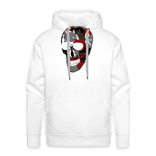 Crâne of the cat - Sweat-shirt à capuche Premium pour hommes