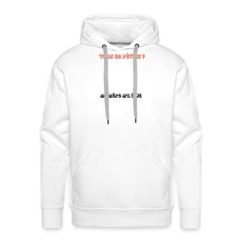 humour - Sweat-shirt à capuche Premium pour hommes