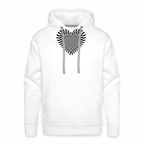 illusion heart - Men's Premium Hoodie
