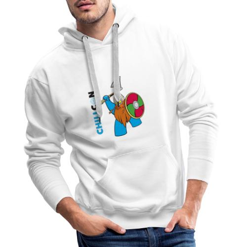 Viking Mascot - Colour - Men's Premium Hoodie