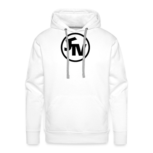 JonnyTeeVee Logo (Black) - Men's Premium Hoodie
