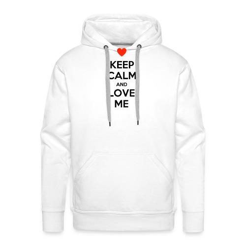 Keep calm and love me - Felpa con cappuccio premium da uomo