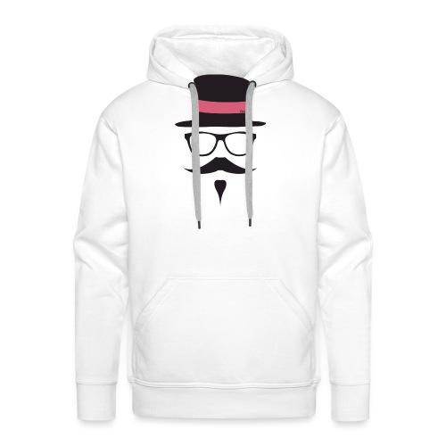 Moustachu Rose (H) - Sweat-shirt à capuche Premium pour hommes