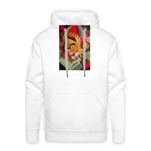 leone - Felpa con cappuccio premium da uomo