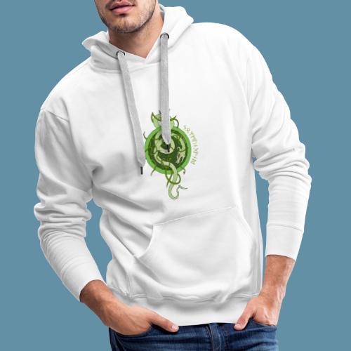 Jormungand logo png - Felpa con cappuccio premium da uomo