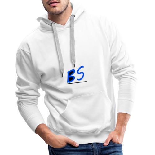 witte bs logo van youtuber Sven.B twitcher BSven. - Mannen Premium hoodie