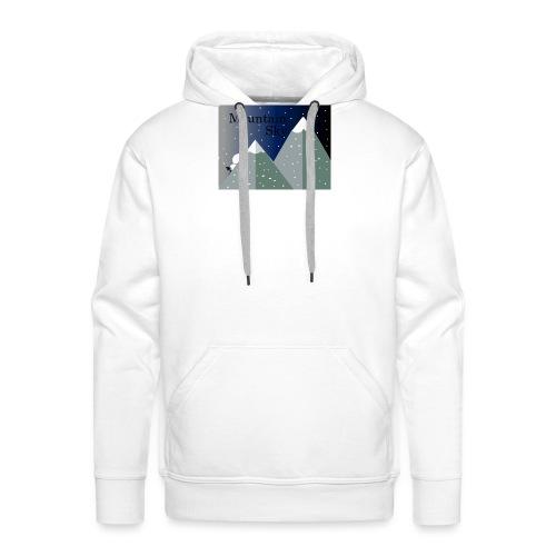 Mountain Sky \Sky Montaña - Sudadera con capucha premium para hombre