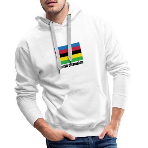 world champion cycling stripes - Mannen Premium hoodie
