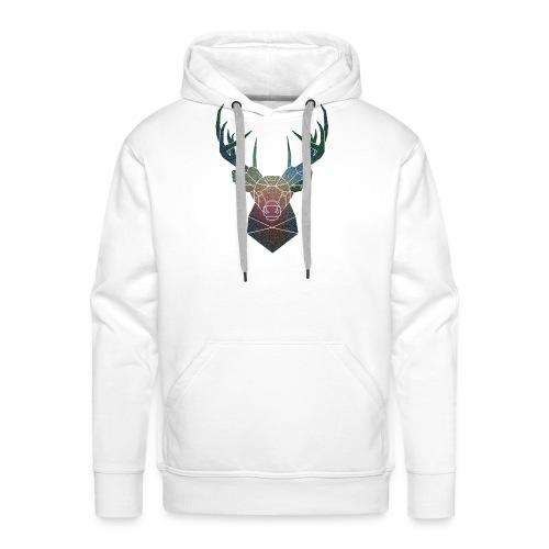 Cervo di colore - Felpa con cappuccio premium da uomo