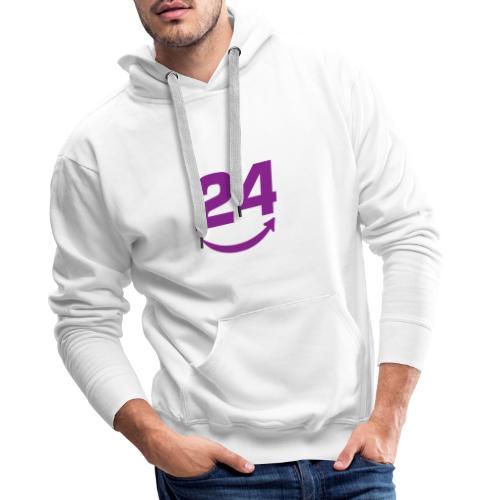 HorseDeal24 Logo Violett - Männer Premium Hoodie
