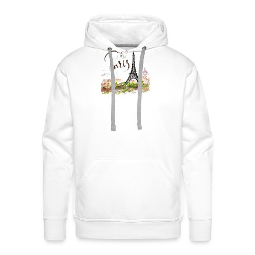 eiffel tower drawing - Männer Premium Hoodie