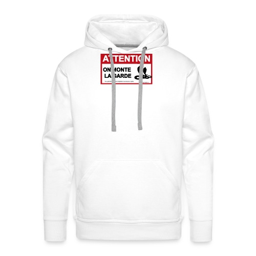 panneau attentionCobraSS - Sweat-shirt à capuche Premium pour hommes