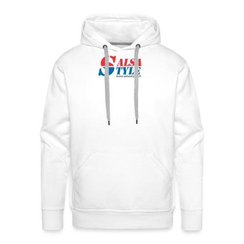 logo salsa style - PNG - Sweat-shirt à capuche Premium pour hommes