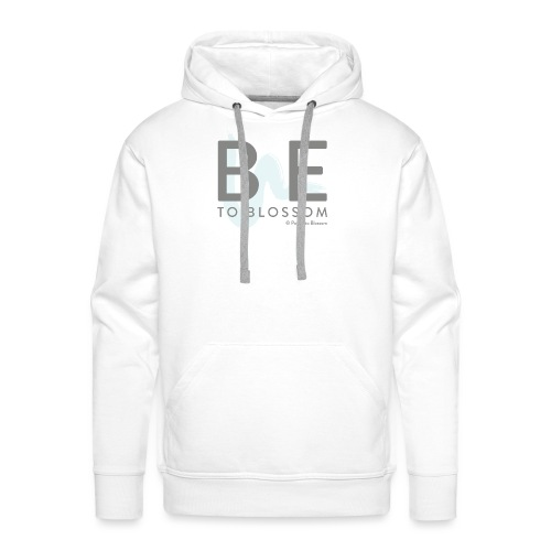 Be to blossom with swoosh (gray) -Power to Blossom - Men's Premium Hoodie