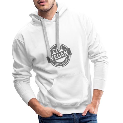 vegan 100% - Sudadera con capucha premium para hombre