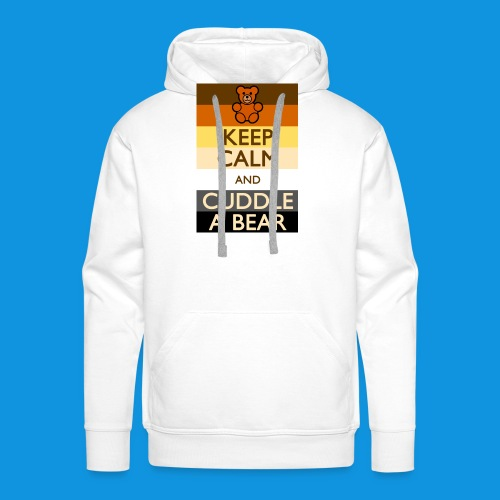 Calm Bear pocket tank - Men's Premium Hoodie