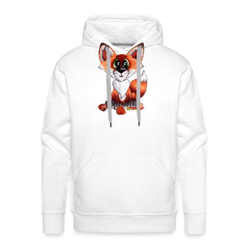 llwynogyn - a little red fox - Herre Premium hættetrøje