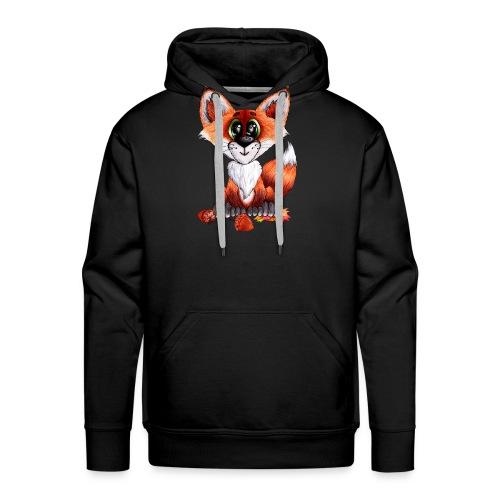 llwynogyn - a little red fox - Miesten premium-huppari