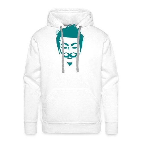 Anonymous Hipster - Sweat-shirt à capuche Premium pour hommes