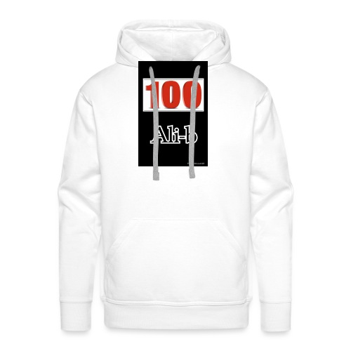 Limited edition Ali-b 100 subscribes merchandise - Men's Premium Hoodie