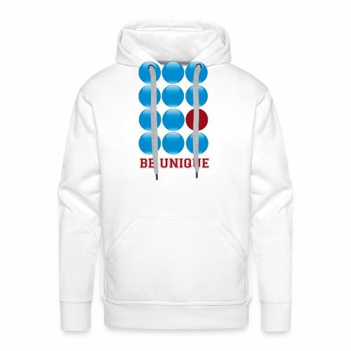 be unique - Sweat-shirt à capuche Premium pour hommes