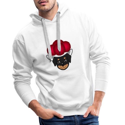 Baby-Rottweiler mit Bollenhut - Männer Premium Hoodie