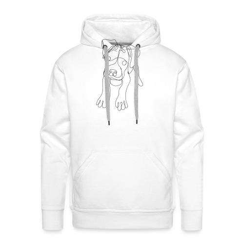 Puppy Dog Artwork - Men's Premium Hoodie