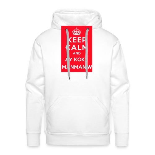 keepcalm MANMANW - Sweat-shirt à capuche Premium pour hommes