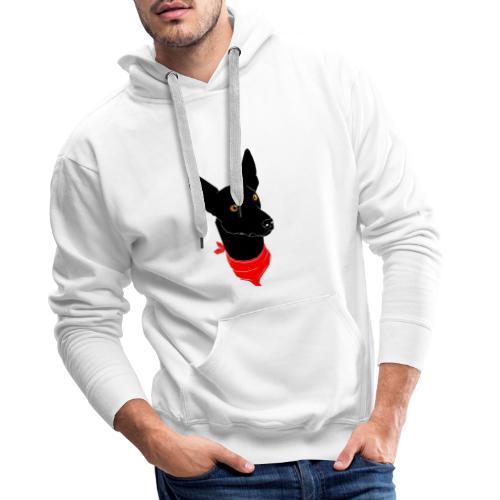 perro negro - Sudadera con capucha premium para hombre