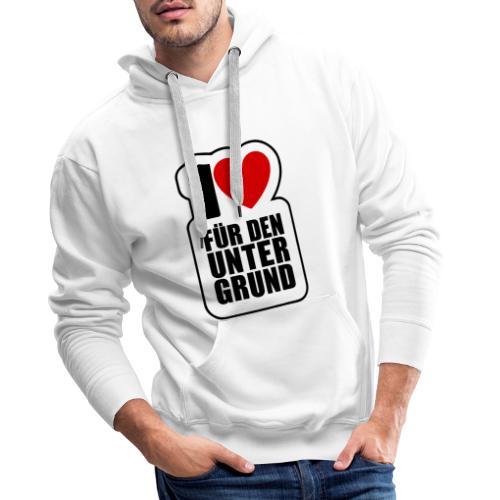 1 Herz für den Untergrund - Original Logo - Männer Premium Hoodie