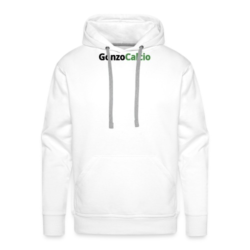 GonzoCalcio logo - Felpa con cappuccio premium da uomo