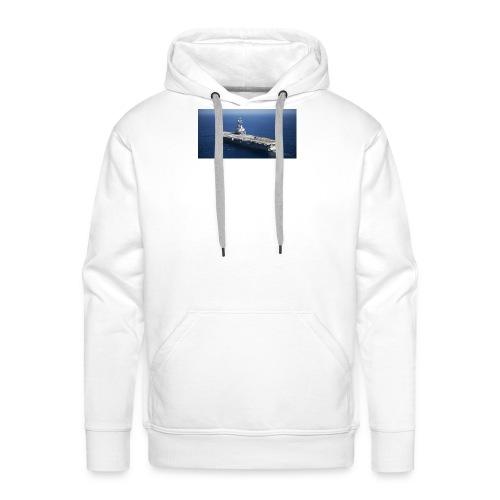 porte avion Charles de Gaulle - Sweat-shirt à capuche Premium pour hommes