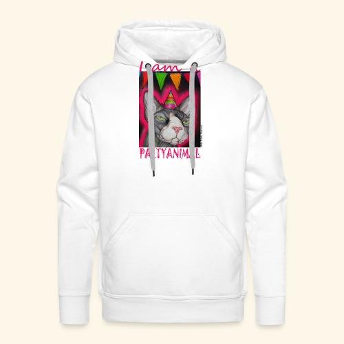 I am a PartyCat - Mannen Premium hoodie