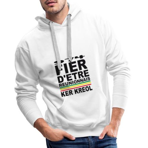 974 ker kreol fier et culture - Sweat-shirt à capuche Premium pour hommes