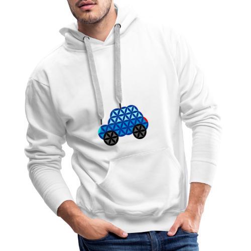 The Car Of Life - 01, Sacred Shapes, Blue. - Men's Premium Hoodie