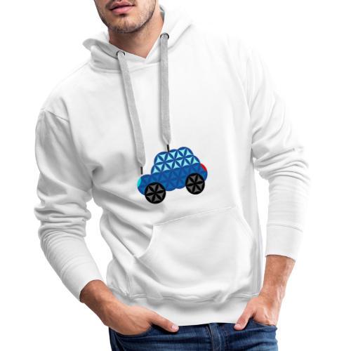 The Car Of Life - M01, Sacred Shapes, Blue/286 - Men's Premium Hoodie