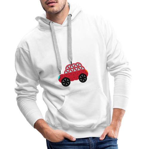 The Car Of Life - M01, Sacred Shapes, Red/186 - Men's Premium Hoodie