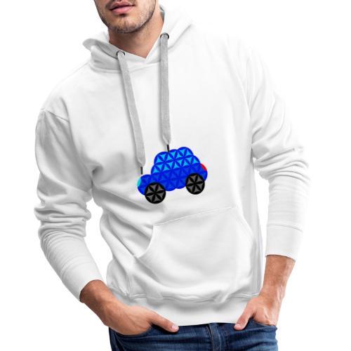 The Car Of Life - M01, Sacred Shapes, Blue/R01. - Men's Premium Hoodie